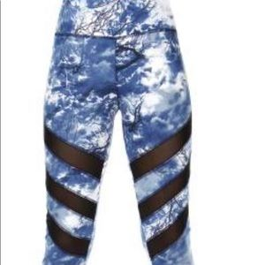 Pants - Yoga pants with black mesh. Hold!